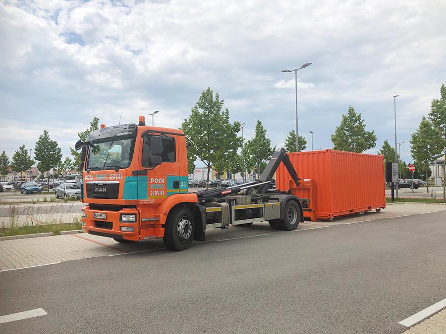 Pöck-LKW Container-Bringservice 1