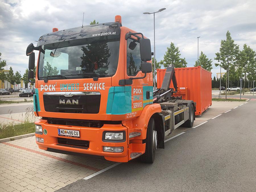 Pöck-LKW Container-Bringservice 2